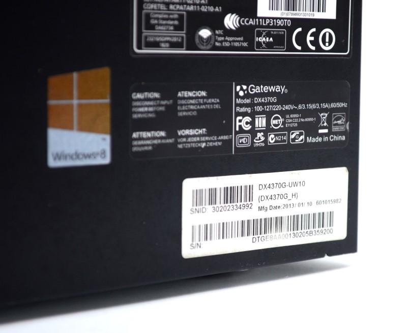 "Gateway DX4370G-UW10 Desktop PC AMD 2.2GHZ 6GB 1TB w/ 17"" Monitor >"