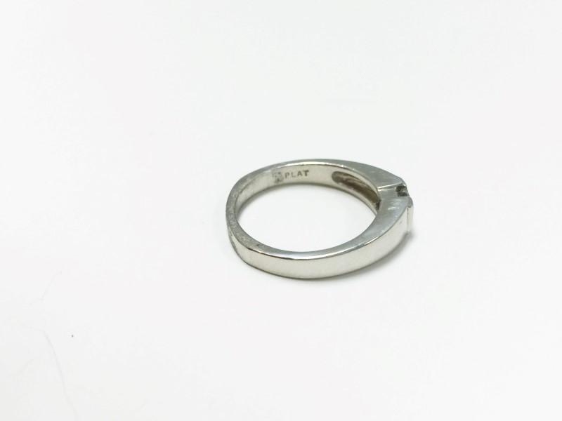Princess Cut Diamond Solitaire .33 CT. 946 Platinum 6.59g