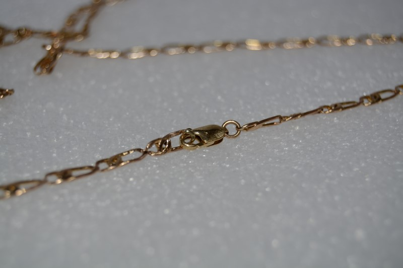 """30"""" 14k Yellow Gold Figaro Chain Necklace"""
