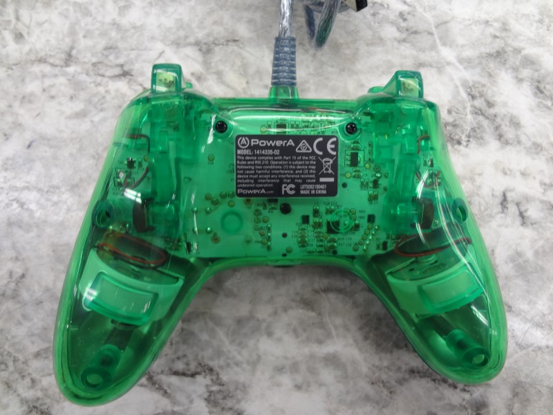 POWER A 1414335-02 GREEN WIRED XBOX ONE CONTROLLER