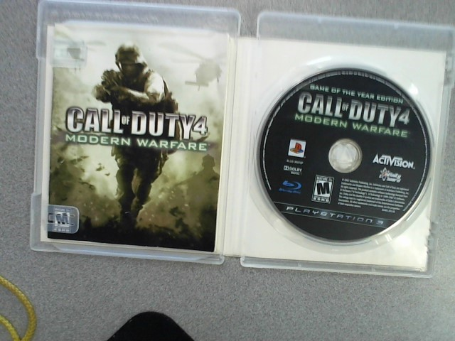 SONY Sony PlayStation 3 Game PS3 CALL OF DUTY 4 MODERN WARFARE