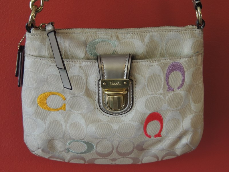 Coach Poppy Legacy Resort Signature Embroiled Swing pack Cross Body