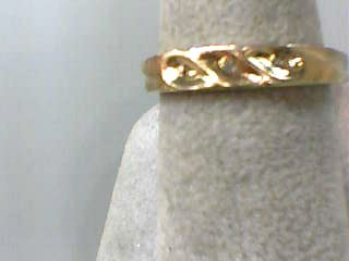Lady's Diamond Wedding Band 3 Diamonds .015 Carat T.W. 10K Yellow Gold 1.5dwt