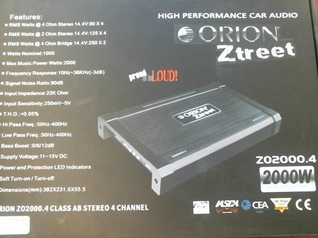 ORION 2000 WATT 4 CHANNEL CAR AMP ZO2000.4