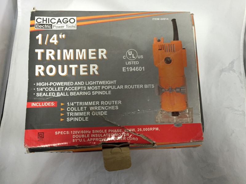 CHICAGO ELECTRIC ROUTER 44914