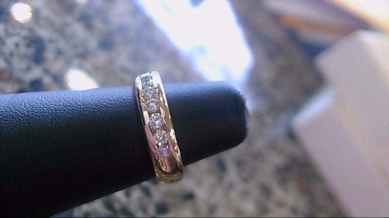 Lady's Diamond Wedding Band 10 Diamonds .60 Carat T.W. 14K Yellow Gold 4.9g