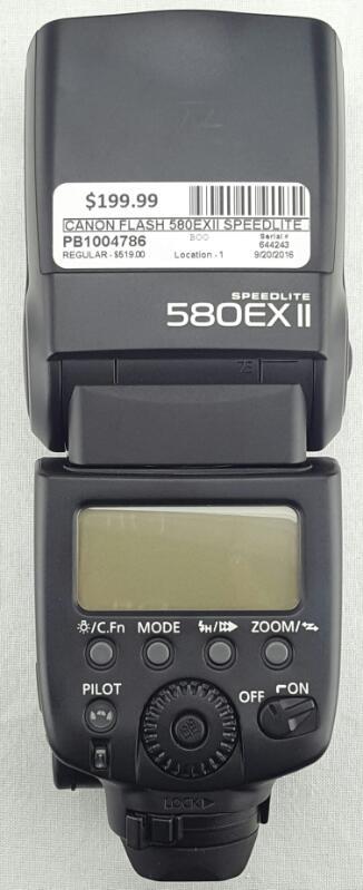 CANON Flash 580EXII SPEEDLITE WITH SOFT CASE