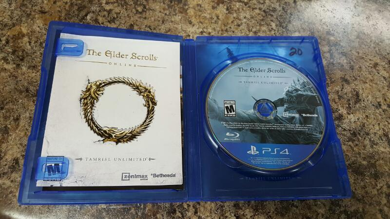 The Elder Scrolls Online: Tamriel Unlimited (PS4, 2015) Playstation 4