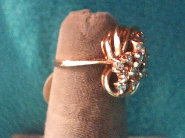 Lady's Diamond Fashion Ring 15 Diamonds .31 Carat T.W. 14K Yellow Gold 2.2dwt