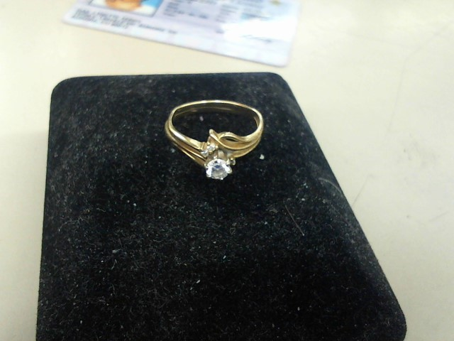 Lady's Diamond Engagement Ring 5 Diamonds .19 Carat T.W. 14K Yellow Gold 2.6g