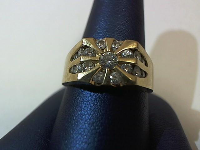 Gent's Diamond Cluster Ring 16 Diamonds .40 Carat T.W. 14K Yellow Gold 10.6g