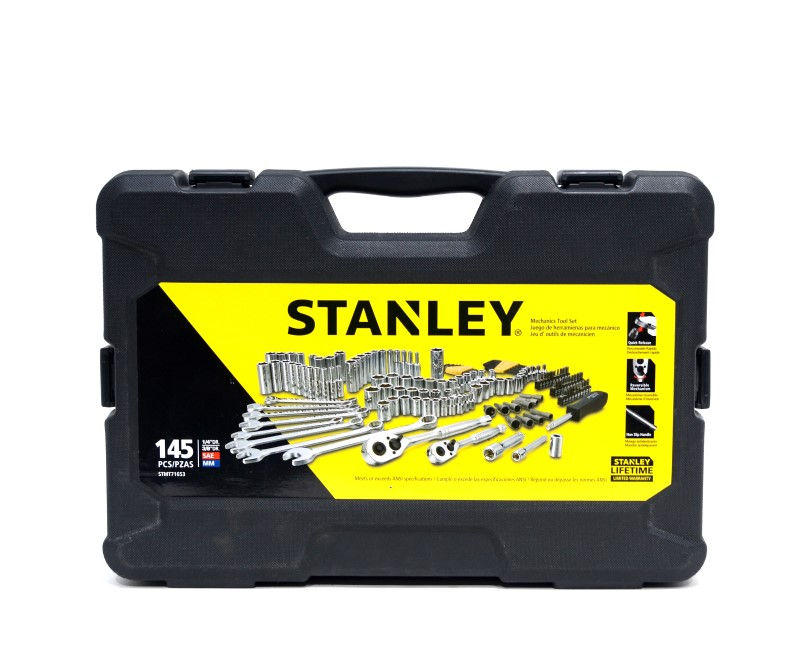 "Stanley STMT71653 145-pc Mechanics Tool Set Incomplete 1/4"" 3/8"" Dr>"