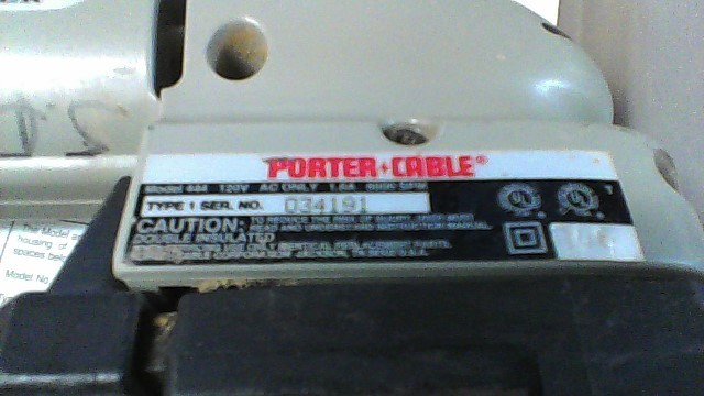 PORTER CABLE Vibration Sander 444 PROFILE SANDER