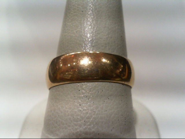 Gent's Gold Wedding Band 18K Yellow Gold 4.4g Size:8.5