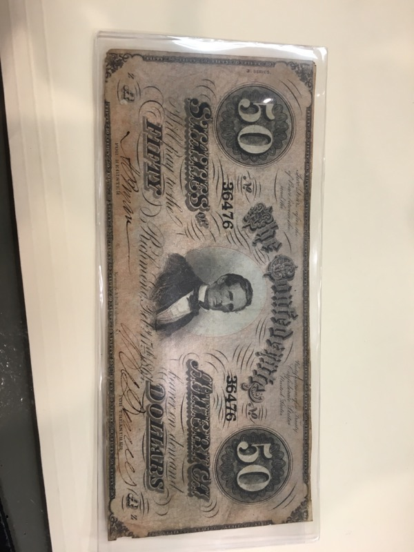 Paper Money - World CSA 50 DOLLAR BILL