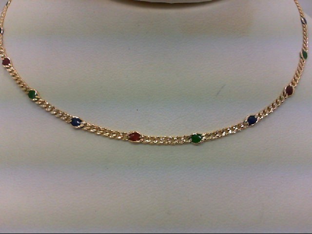 "23"" Gold Link Chain 14K Yellow Gold 7g"
