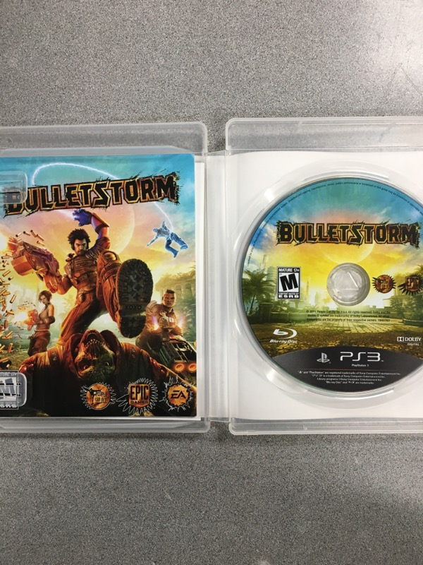 SONY Sony PlayStation 3 Game BULLETSTORM EPIC