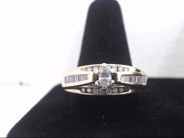 Lady's Gold-Diamond Anniversary Ring 38 Diamonds 1.10 Carat T.W.