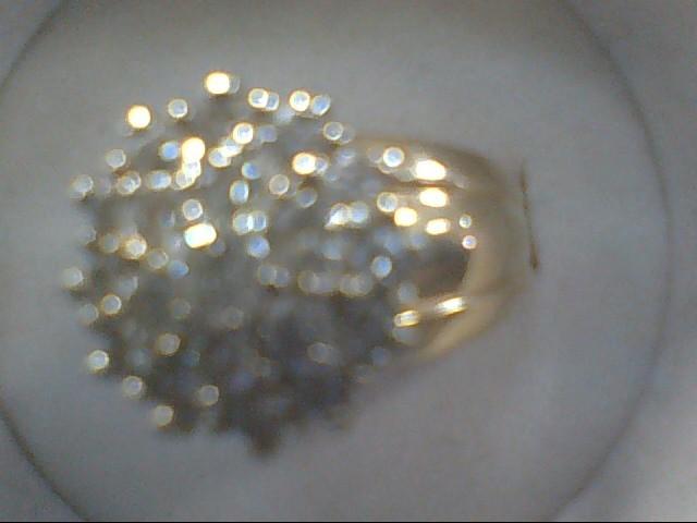 Lady's Diamond Cluster Ring 19 Diamonds .64 Carat T.W. 14K Yellow Gold 5.7g