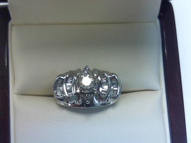 Lady's Diamond Wedding Set 27 Diamonds .48 Carat T.W. 10K White Gold 3.5dwt