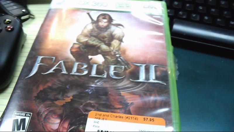 Microsoft XBOX 360 Game FABLE II - XBOX ONE COMPATIBLE