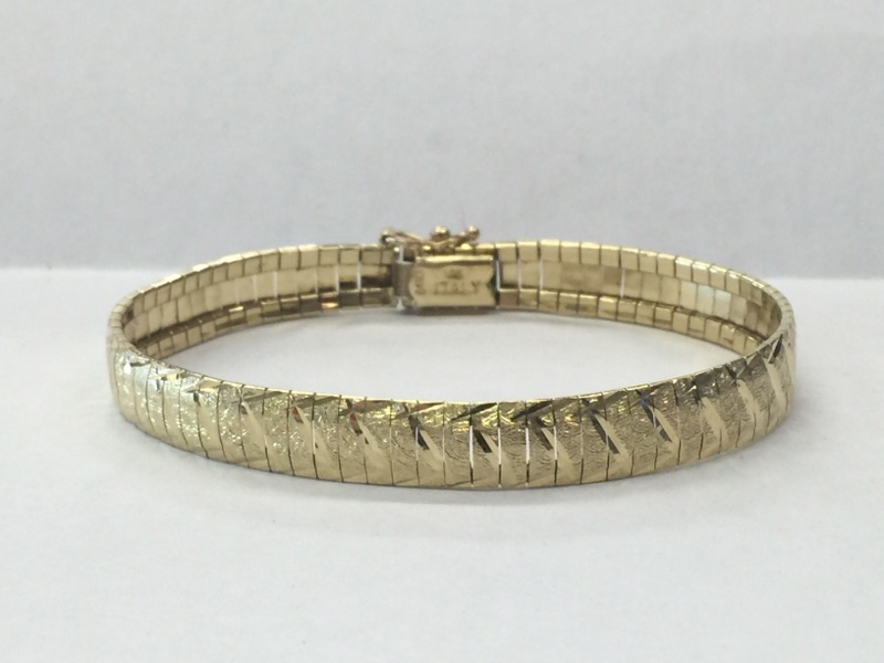 Gold Omega Bracelet 14K Yellow Gold 9.4dwt