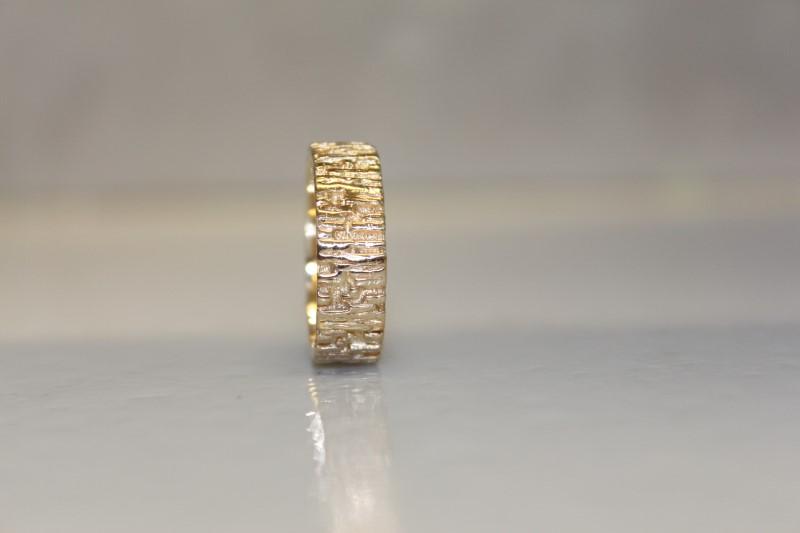 14K YG MEN'S GOLD RING SZ.10.5 7.0MM