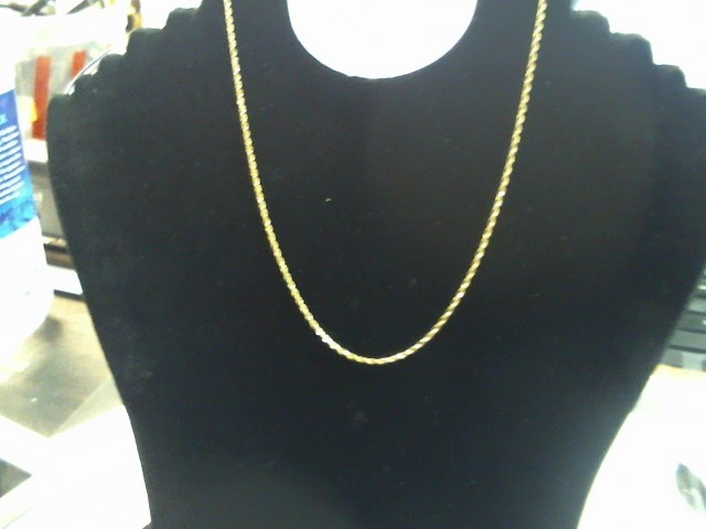 "16.5"" Gold Chain 10K Yellow Gold 3g"