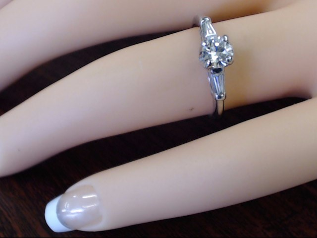 VINTAGE DIAMOND SOLITAIRE ENGAGE WED RING SOLID 950 PLATINUM SZ 5.5