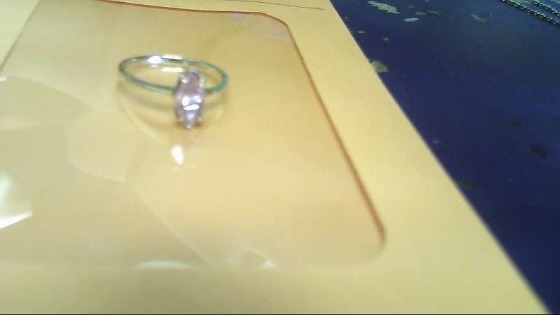 Synthetic Agate Lady's Stone Ring 10K Yellow Gold 1g