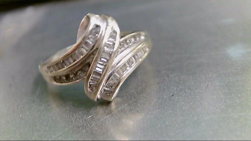 Lady's Diamond Fashion Ring 52 Diamonds .52 Carat T.W. 10K White Gold 2.8g