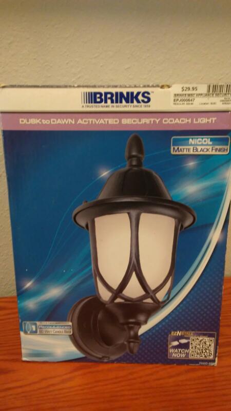 BRINKS Miscellaneous Appliances SECURITY COACH LIGHT