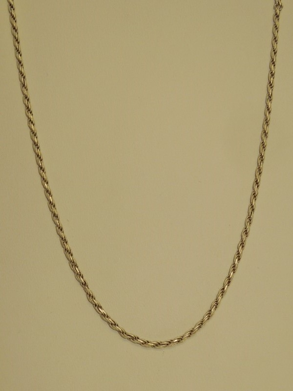 """25"""" Silver Rope Chain 925 Silver 5.7g"""