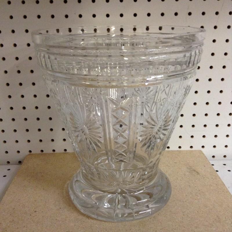 POLAND Glass/Pottery CRYSTAL VASE