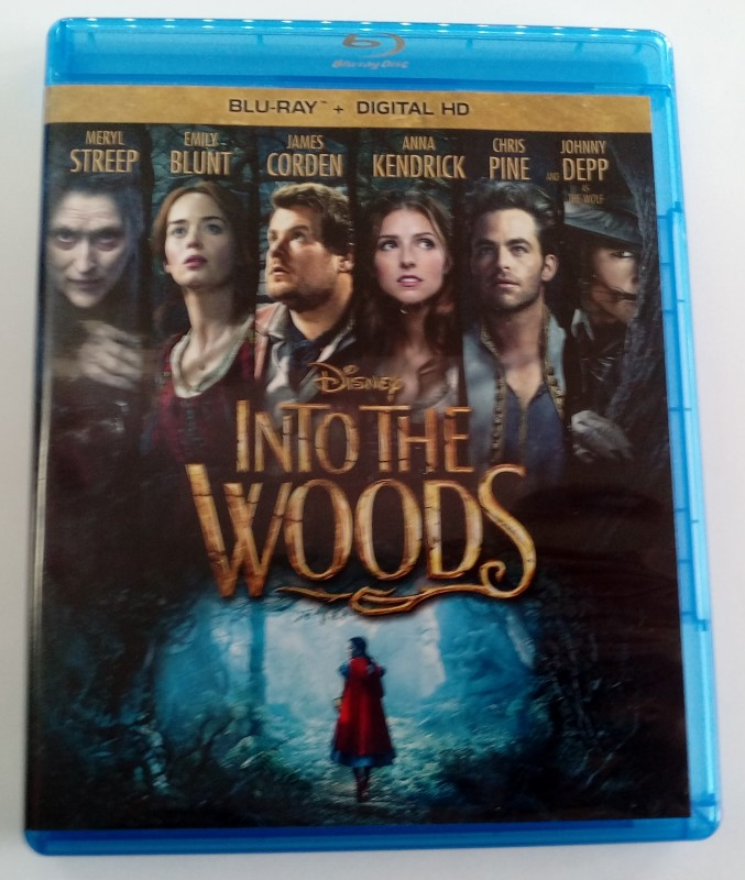 INTO THE WOODS, DISNEY BLU-RAY MOVIE, GOOD CONDITION, STARRING MERYL STREP