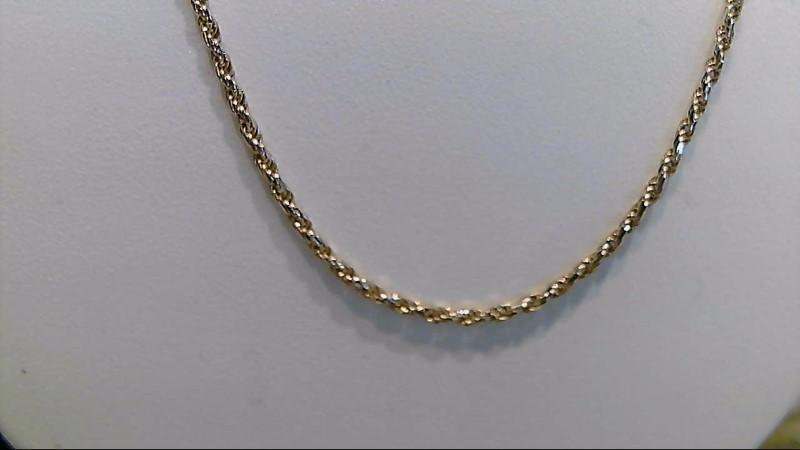 14k yellow gold 20 inch rope chain