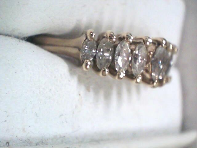 Lady's Diamond Fashion Ring 9 Diamonds 1.01 Carat T.W. 14K Yellow Gold 3.2dwt