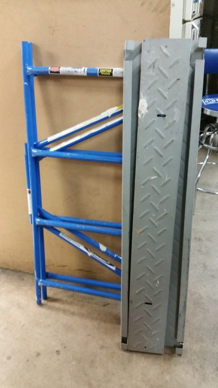 Werner 4 ft. x 3.8 ft. x 2 ft. Portable Rolling Scaffold 500 lb. Load Capacity