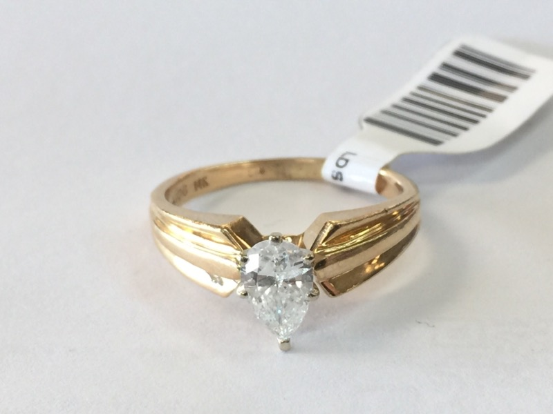 Lady's Diamond Engagement Ring .58 CT. 14K Yellow Gold 2.5dwt Size:8.5