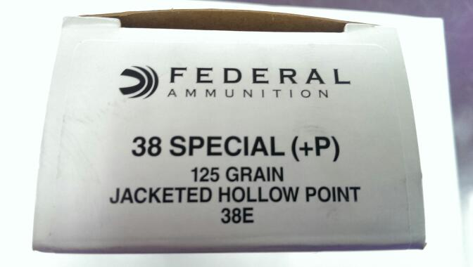 FEDERAL AMMUNITION Ammunition 38 SPECIAL + P 125 GR JACKETED HOLLOW POINT