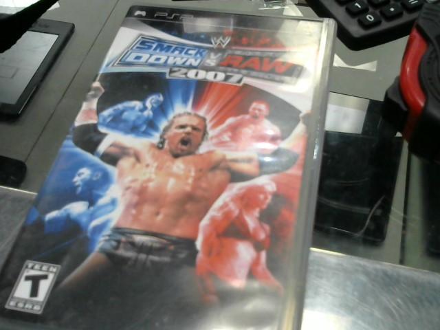 SONY Sony PSP Game SMACK DOWN VS RAW 2007 PSP
