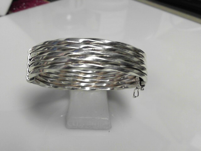 Sterling Silver Open Bangle Bracelet 17.4g