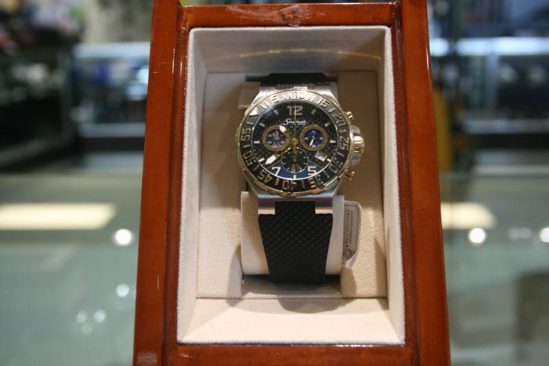 Sapient A9965 3 Dial Gold/Steel Wristwatch