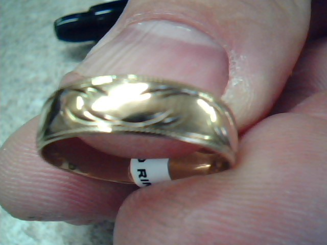 Lady's Gold Wedding Band 10K Yellow Gold 2.2g Size:7