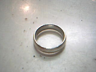 Lady's Silver Wedding Band 925 Silver 4.6g Size:6.5