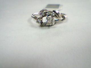 Lady's Diamond Wedding Band 7 Diamonds .30 Carat T.W. 14K White Gold 2.03g