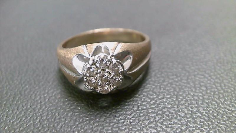 Gent's Diamond Cluster Ring 7 Diamonds .70 Carat T.W. 10K Yellow Gold 5.4g