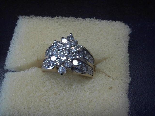 Lady's Diamond Cluster Ring 35 Diamonds 2.45 Carat T.W. 10K Yellow Gold 7.7g