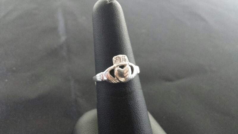 Lady's Calddagh Silver Ring 925 Silver