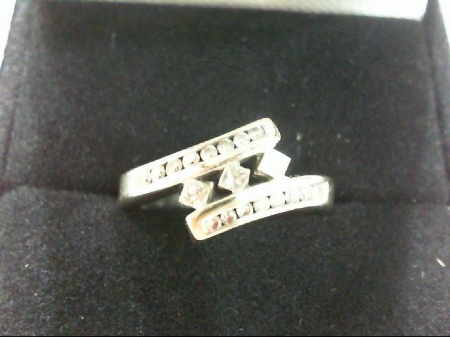 Lady's Diamond Fashion Ring 19 Diamonds .34 Carat T.W. 14K White Gold 2.8g